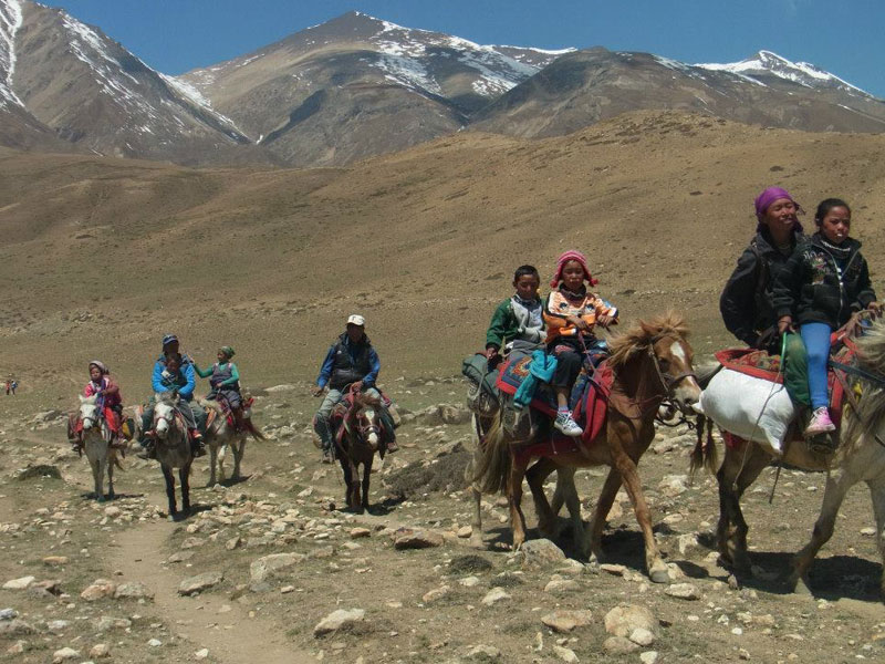 18 Days Upper Mustang Horse Riding Holiday